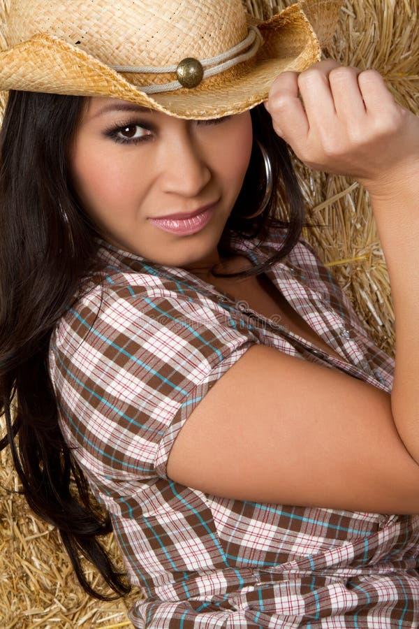Asiatisches Cowgirl lizenzfreie stockfotos