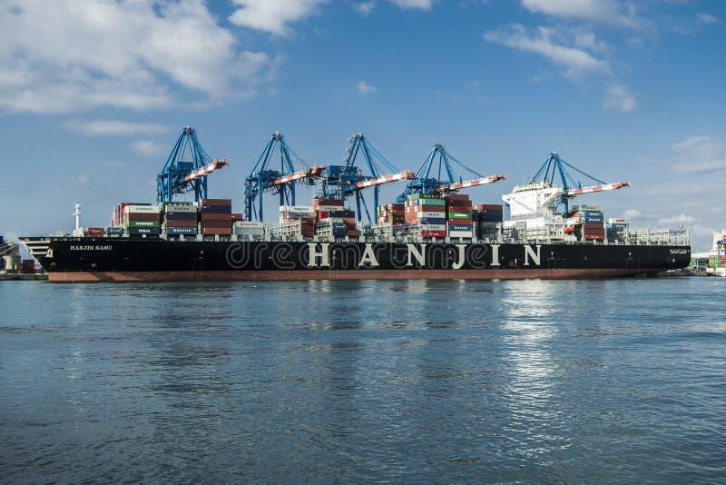 Asiatisches Frachtschiff lizenzfreie stockfotografie
