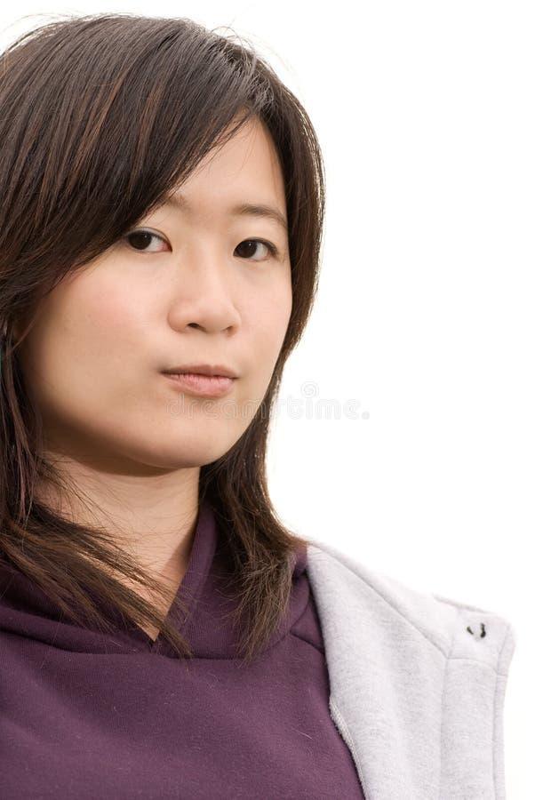 Asiatisches Frauenportrait lizenzfreie stockbilder