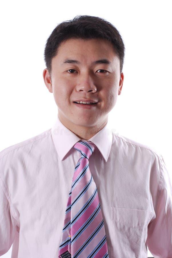 Asiatisches Geschäftsmannlächeln stockfoto