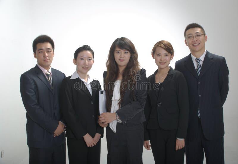 Asiatisches Geschäftsteam stockbilder
