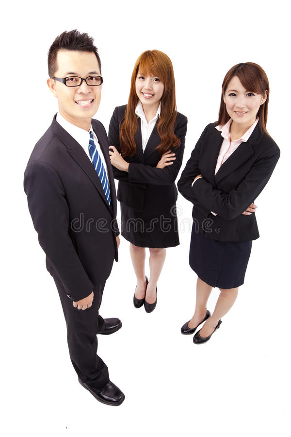 Asiatisches Geschäftsteam lizenzfreie stockbilder