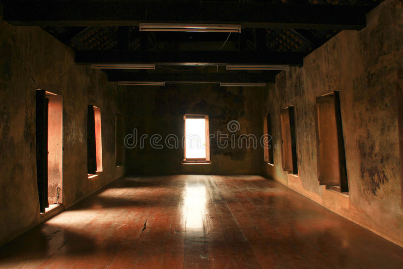 Asiatisches Innenhaus stockbild