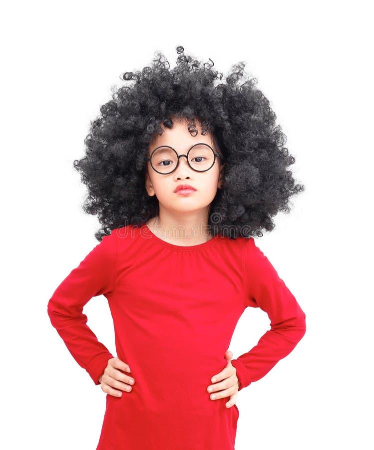 Asiatisches Mädchen des Afro lizenzfreies stockfoto