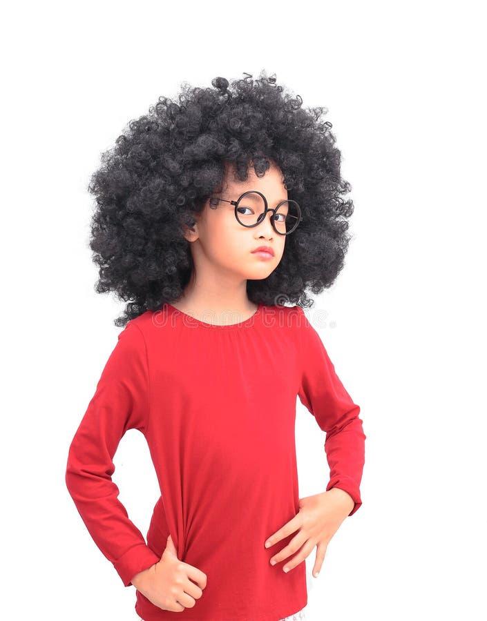 Asiatisches Mädchen des Afro stockfoto