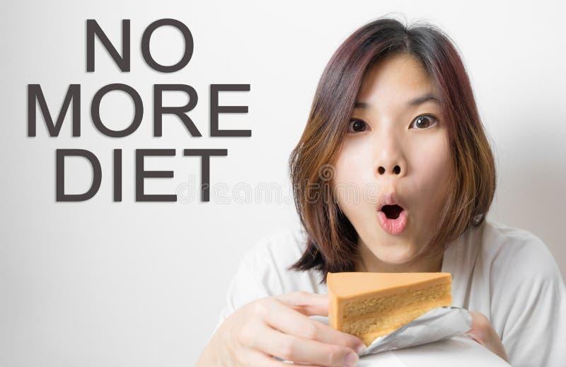 Asiatisches Mädchen ohne mehr Diätkonzept lizenzfreie stockbilder