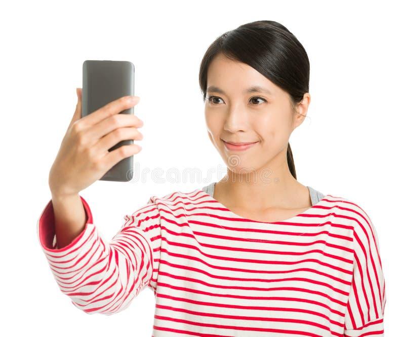 Asiatisches Mädchen selfie lizenzfreies stockfoto