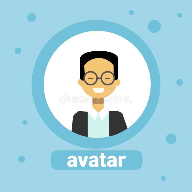 Asiatisches Mann-Avatara-Geschäftsmann-Profile Icon Element-Benutzer-Bild-Mannesgesicht lizenzfreie abbildung