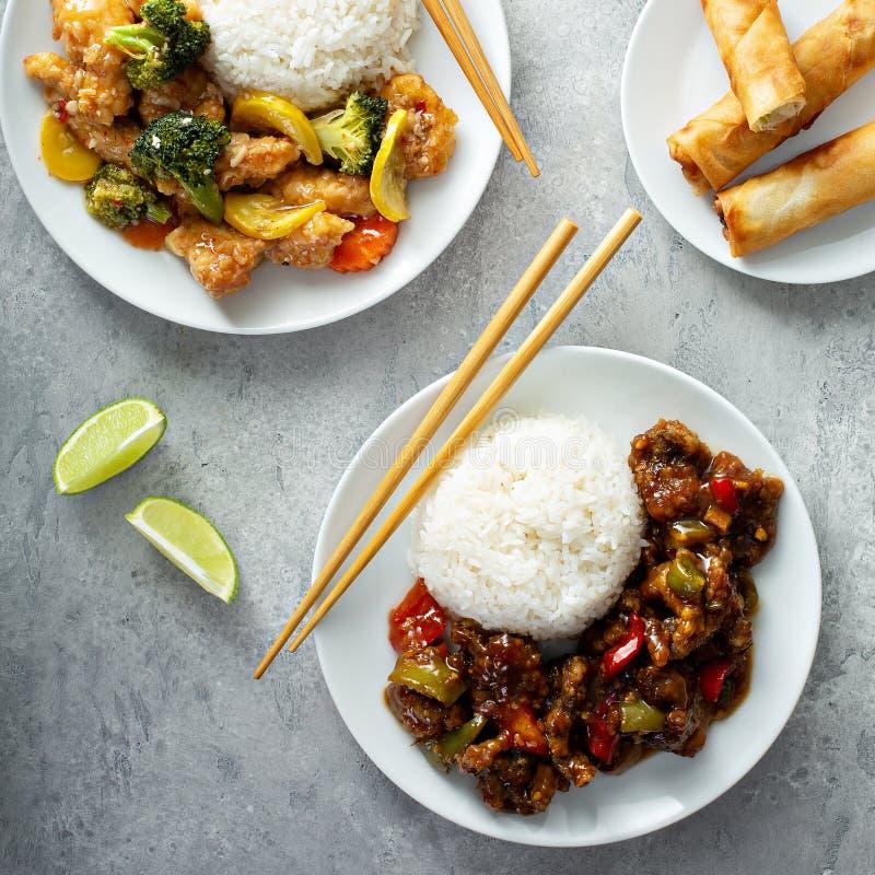 Asiatisches Nahrungsmittelkonzept stockfotos