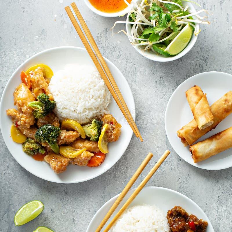 Asiatisches Nahrungsmittelkonzept stockbilder
