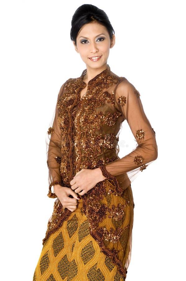 Asiatisches traditionelles Kostüm lizenzfreies stockbild