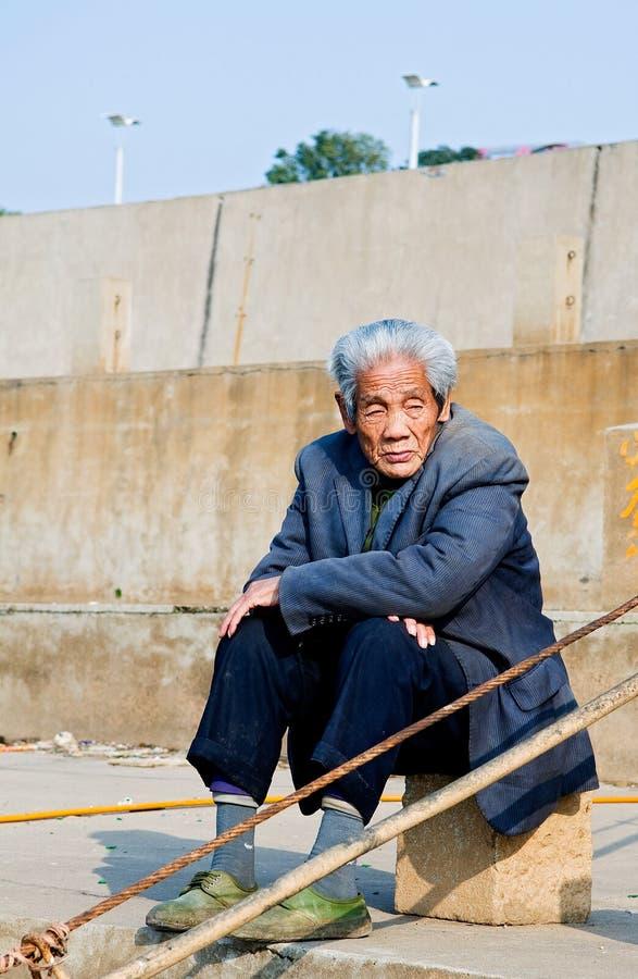 asiatisk åldring arkivbild