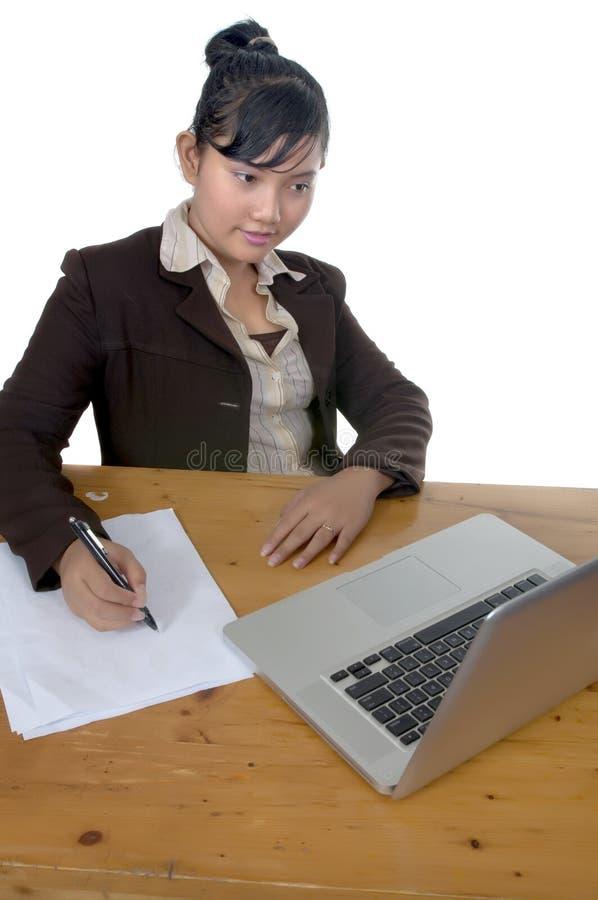 asiatisk affärskvinna arkivbilder