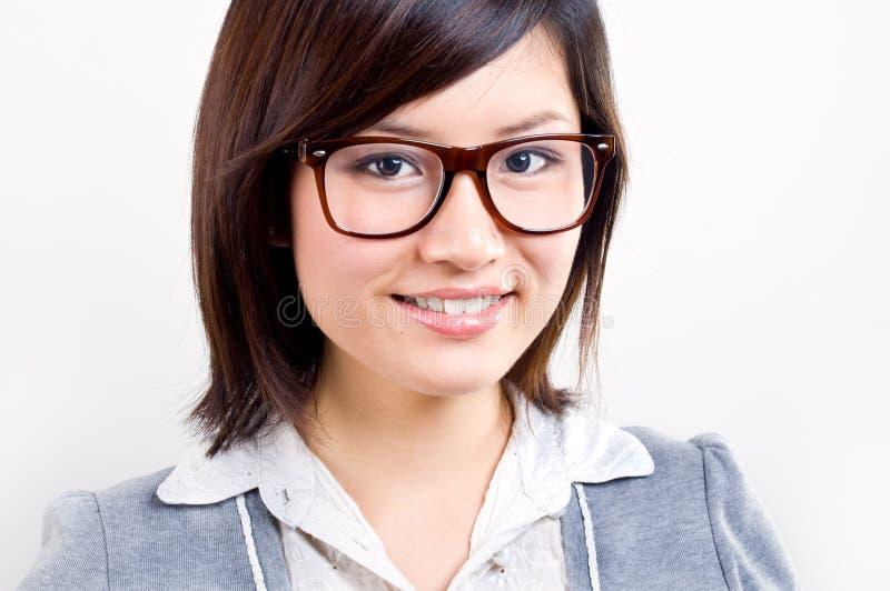 asiatisk affärskvinnastående royaltyfri bild