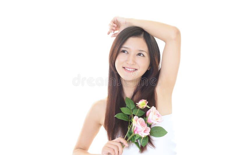 asiatisk attraktiv kvinna royaltyfri foto