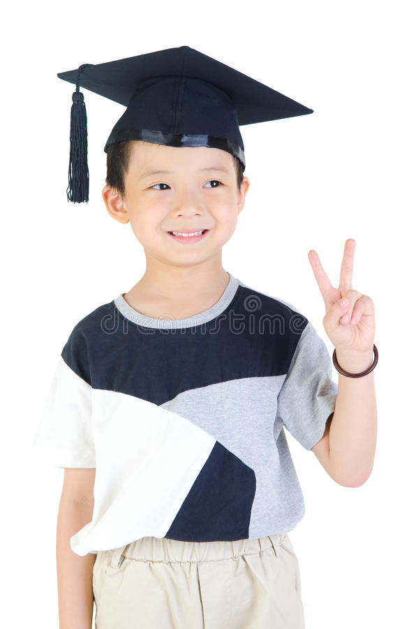 Asiatisk avläggande av examen arkivfoto