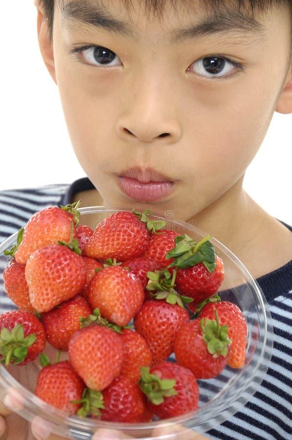 Asiatisk barnman arkivfoto