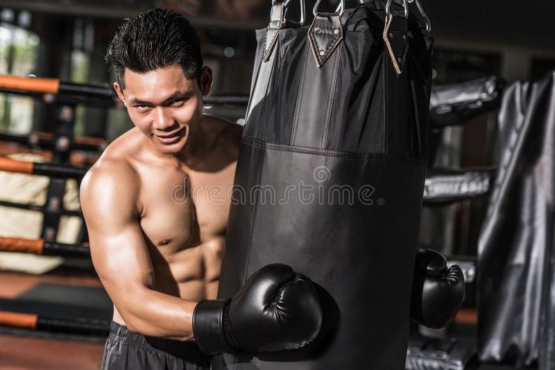 asiatisk boxare royaltyfria foton