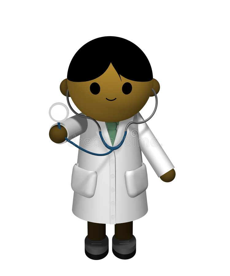 asiatisk doktor stock illustrationer