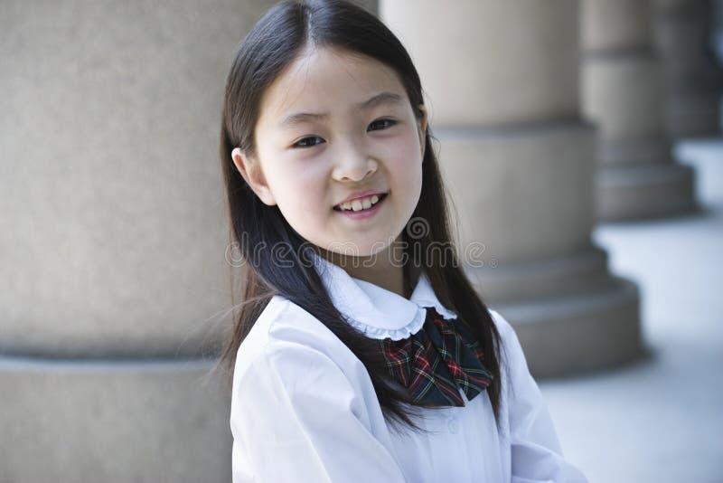 asiatisk elementär schoolgirl arkivfoton