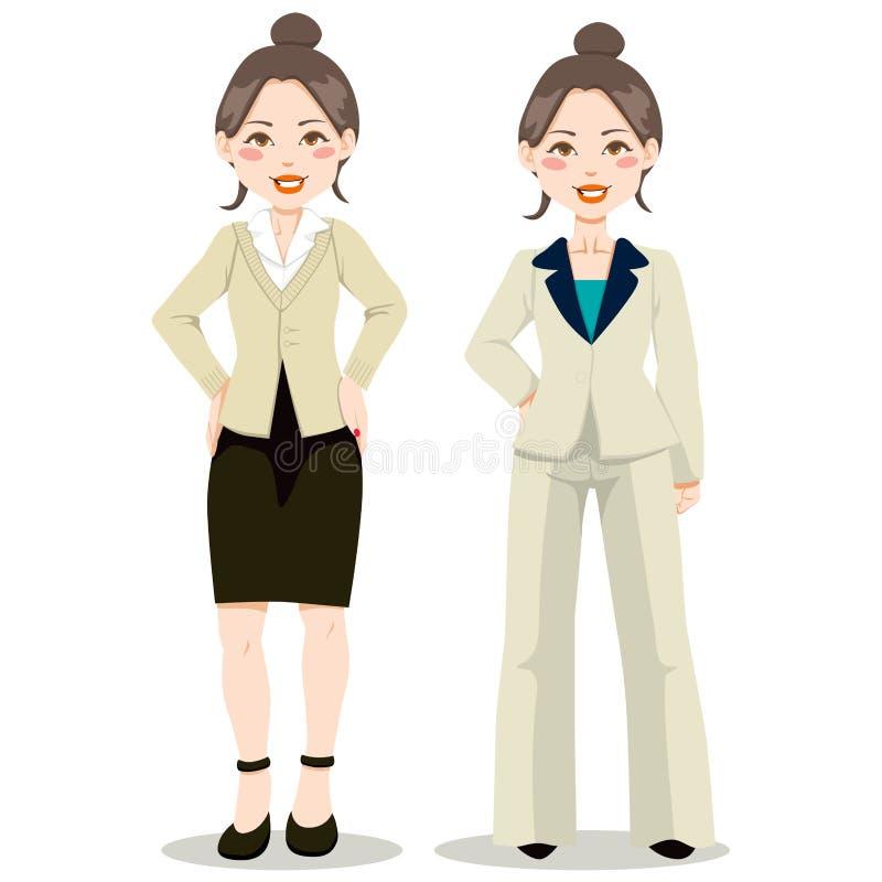 asiatisk executive kvinna royaltyfri illustrationer