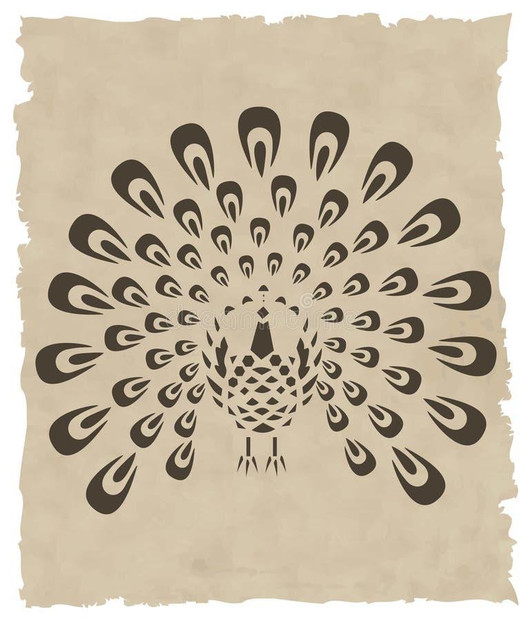 asiatisk fågelvektor royaltyfri illustrationer
