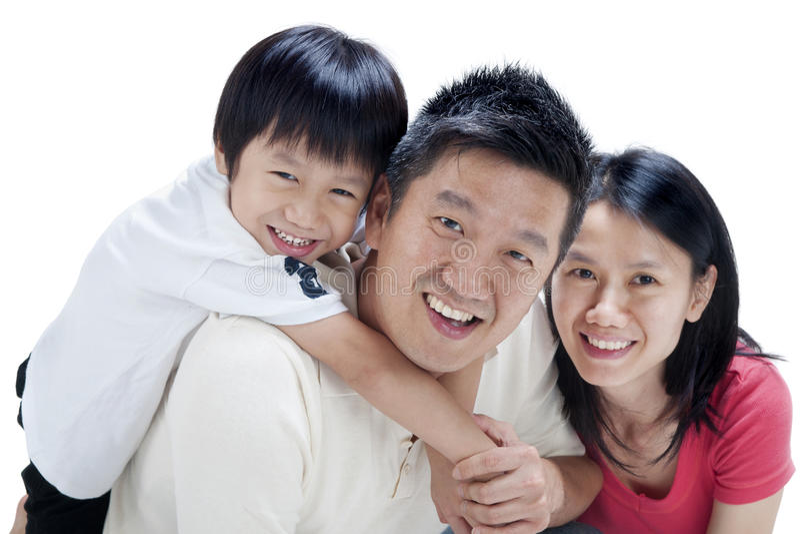 asiatisk familj arkivfoton