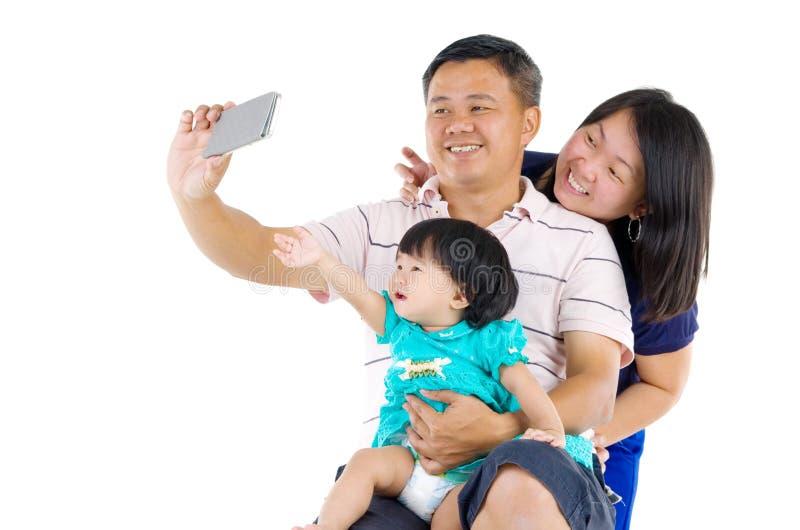asiatisk familj arkivbilder