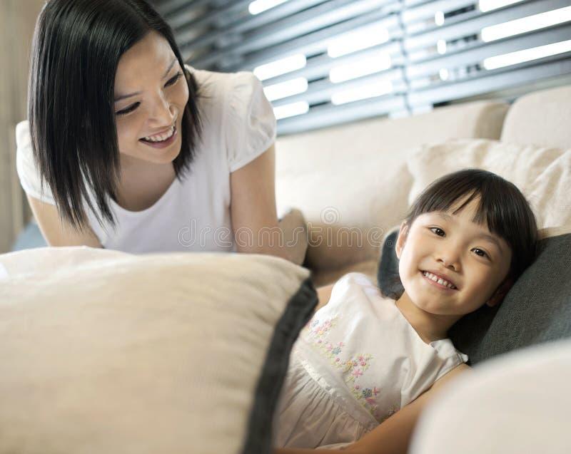asiatisk familjlivsstil arkivbilder