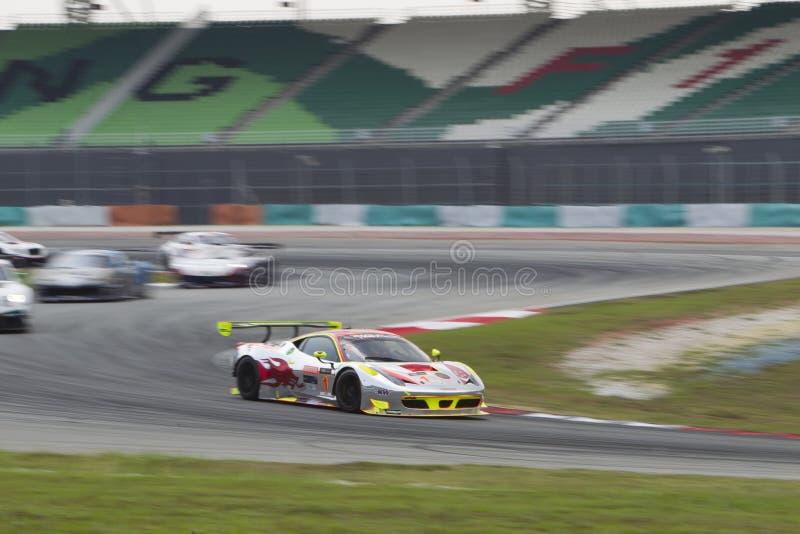 Asiatisk festival av hastighet, huvudsakligt lopp för GT Asien, Sepang Malaysia royaltyfri bild