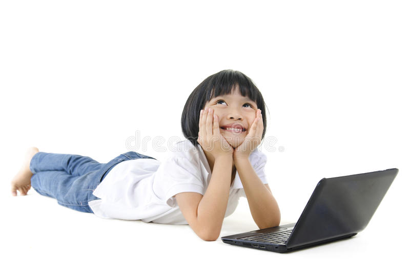 asiatisk flickapannaskola arkivfoton