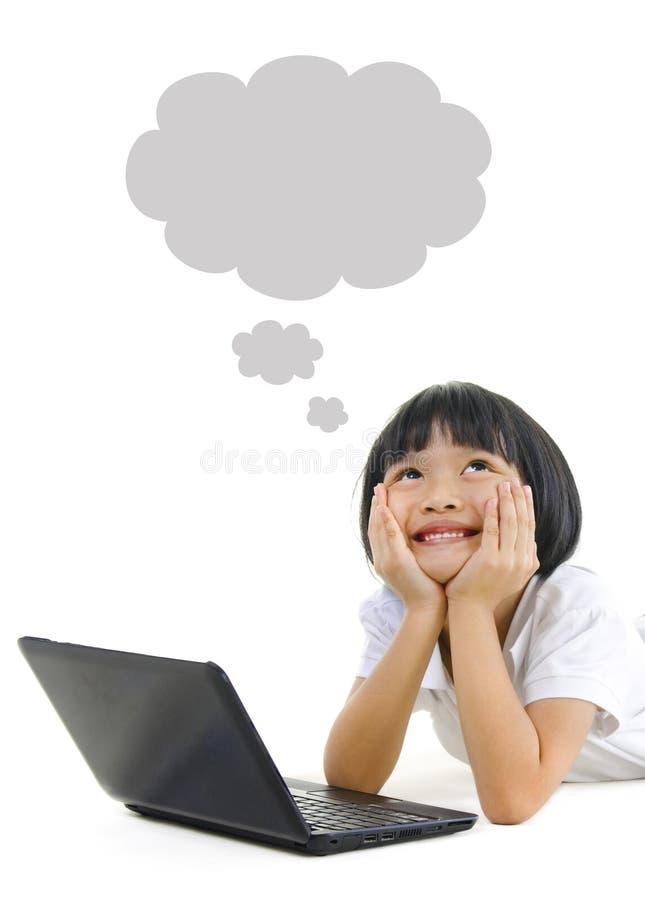 asiatisk flickapannaskola royaltyfri fotografi