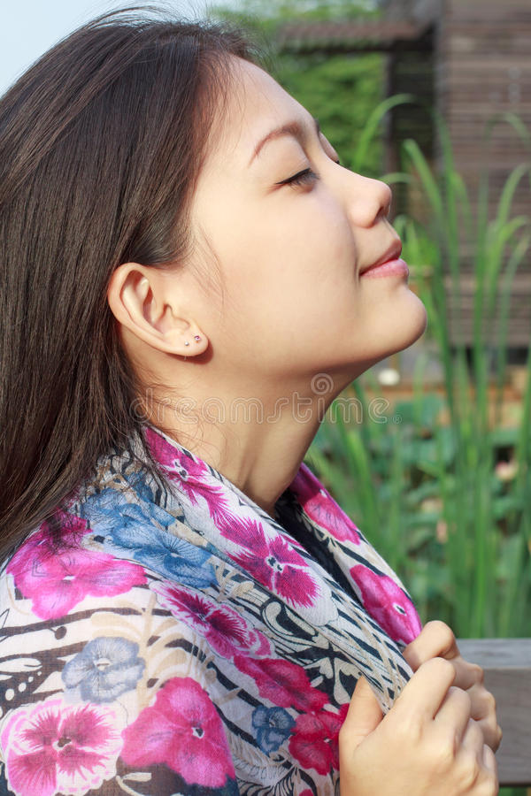 asiatisk framsidakvinna royaltyfria foton