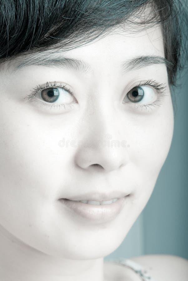 asiatisk framsidakvinnlig royaltyfria foton