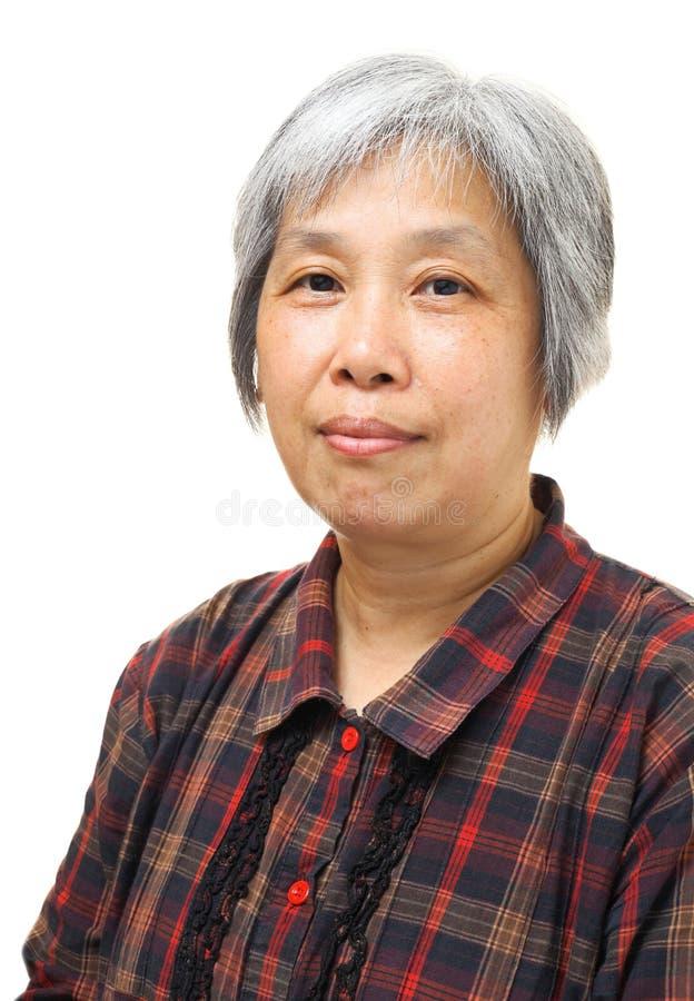 Asiatisk gammal kvinna royaltyfri foto