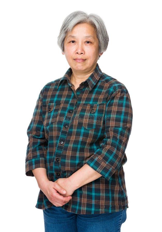 Asiatisk gammal kvinna arkivbilder