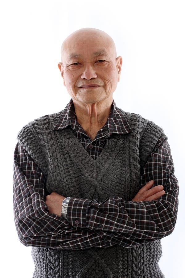 asiatisk gammalare man royaltyfri bild