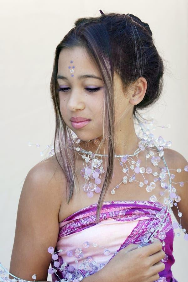 asiatisk glamour royaltyfria bilder