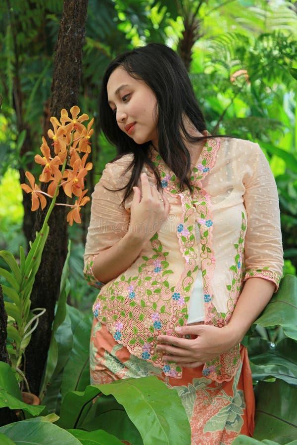 asiatisk gravid kvinna arkivfoton