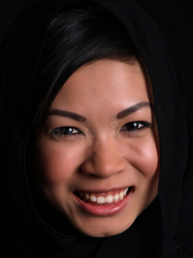 asiatisk härlig flicka royaltyfria bilder