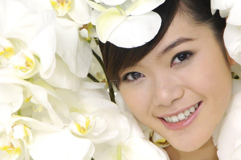 asiatisk härlig kvinna royaltyfri foto