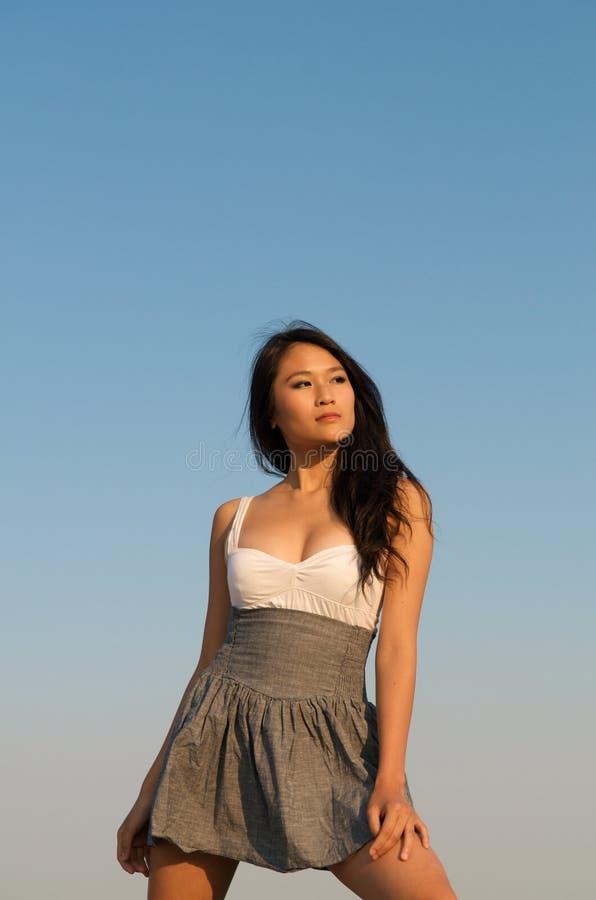 asiatisk härlig modell royaltyfri fotografi