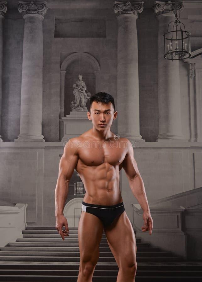 Asiatisk idrottsman nen arkivfoton