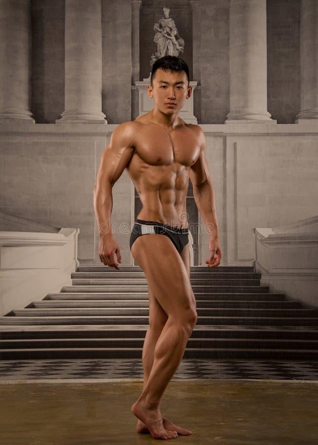 Asiatisk idrottsman nen arkivfoto