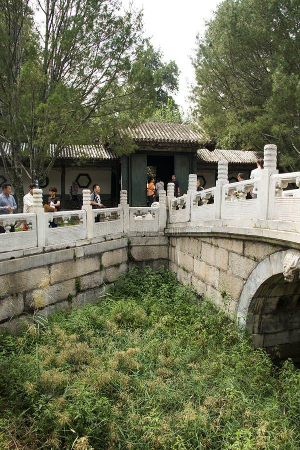 Asiatisk kines, Peking, sommarslotten, qing hua Xuan arkivfoton