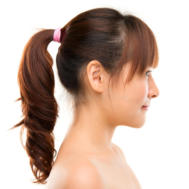 Asiatisk kvinnaprofil. royaltyfria foton