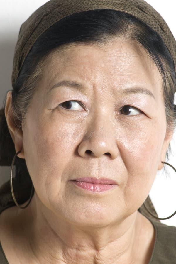 asiatisk lady arkivfoton