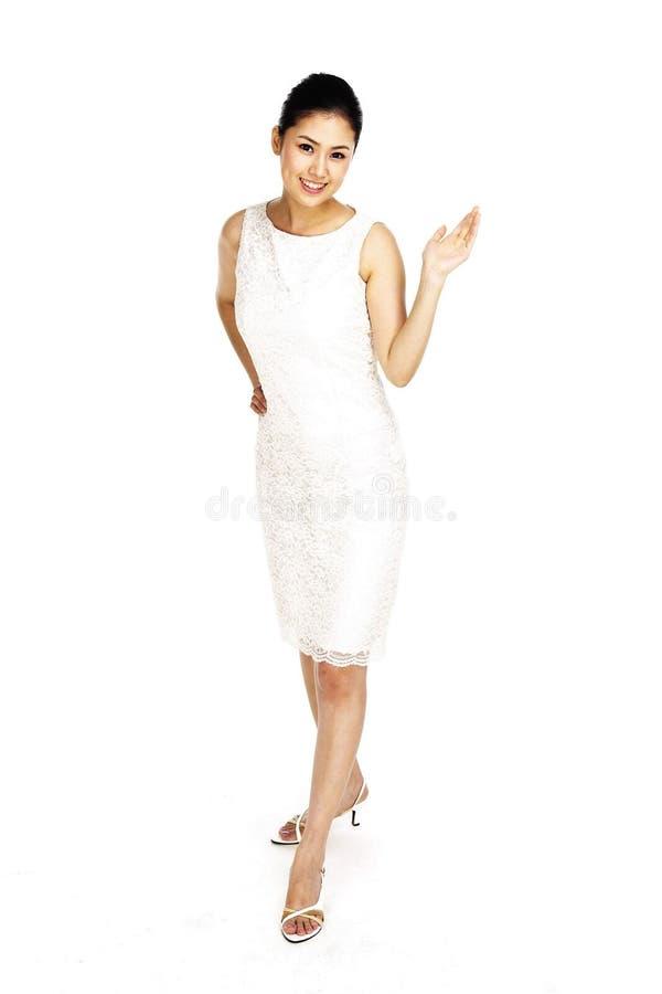asiatisk lady royaltyfri bild