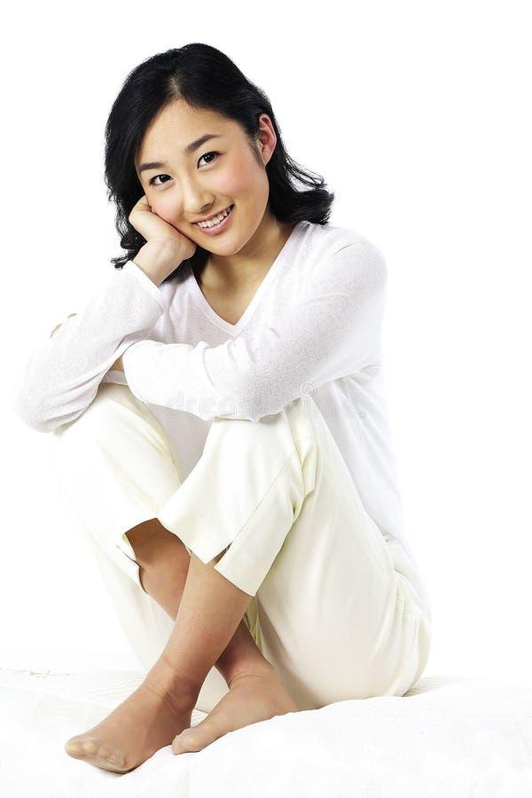 asiatisk lady arkivfoto