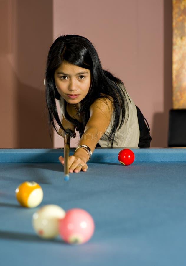 asiatisk leka pölkvinna royaltyfria foton
